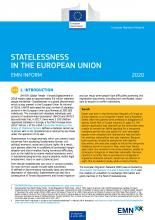 EMN Inform: Statelessness in the European Union