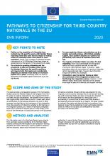 EMN Inform: Pathways to citizenship for third-country nationals in the EU